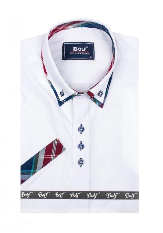 30c88a24c98 Pánská košile BOLF 6540 bílá v akci!