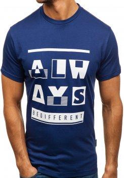 Tmavě modré pánské tričko s potiskem Bolf T1401 99ad9f7eb2