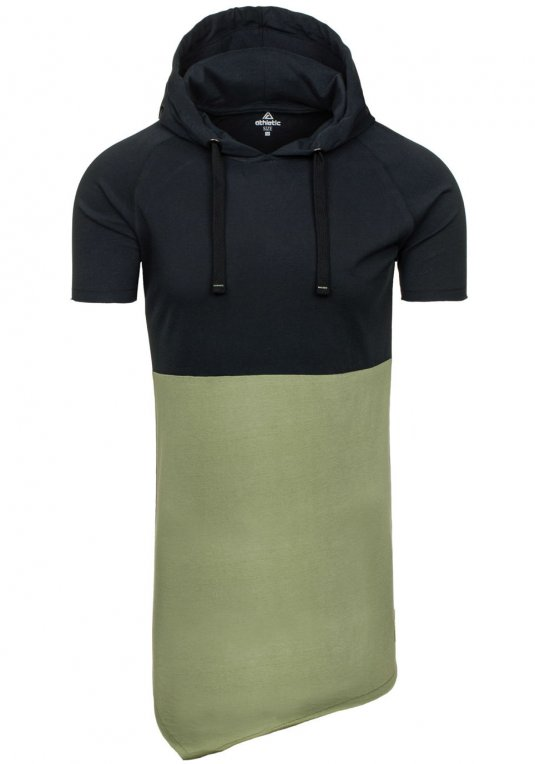 Černo-zelené pánské tričko bez potisku Bolf 1103 v akci! 2a7f681b51