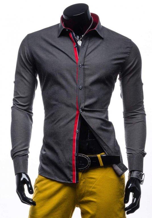 Pánská košile BLACK ROCK 204 grafitová v akci! 80c7c766eb